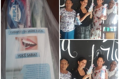 Palestra sobre saúde bucal