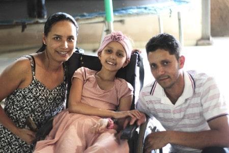 Rainny e seus pais